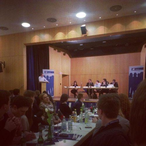 Zu Gast beim #Bezirkstag der #JU #NordBaden ist nun Peter #Hauk (Vorsitzender der CDU Landtagsfraktion Ba-Wü). :) Kubus Ju Cdu Nagold Politik Jungeunion Bezirkstag Nordbaden Hauk