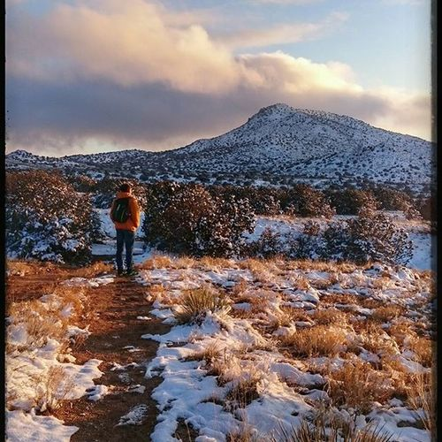 """""""Man is not himself only...He is all that he sees; all that flows to him from a thousand sources...He is the land, the lift of its mountain lines, the reach of its valleys."""" Explore TheGreatOutdoors Natureboyphotos Sunset Newmexico Adventure Instagood Bestof2015 SW"""