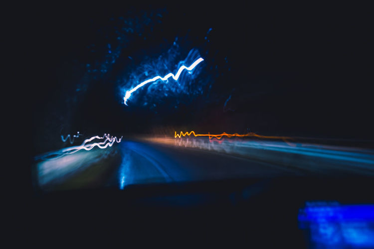 Technology Tech Rain Drive Driving Night Night Lights Neon Dark Lights The Glitch Abstract POV Algorithm Analytics Speed Revolution Through The Window Light And Shadow Blue Raindrops Reflection Rainy Days Humanity Meets Technology My Best Photo Illuminated Road Road Trip Transportation Motion Long Exposure Mode Of Transportation Light Trail Car Motor Vehicle Blurred Motion City Land Vehicle Headlight Street on the move Outdoors Car Point Of View Blur