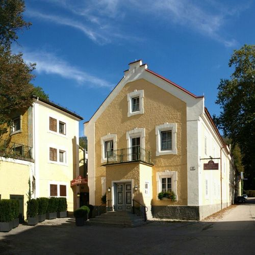 Salzburg, Austria Aigen Schlossaigen Restaurant Sunny Day Blue Sky Historical Building