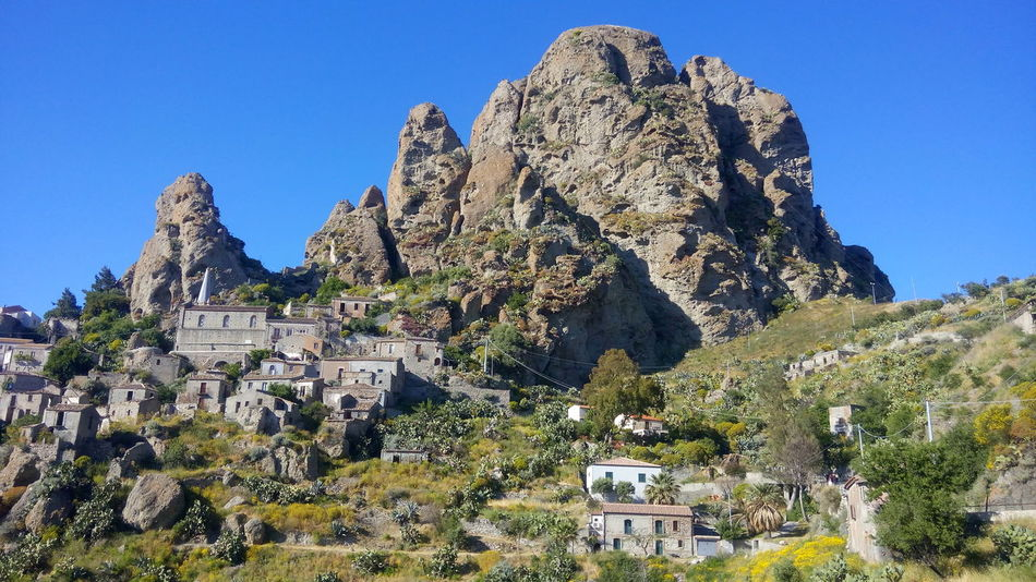 Village of Pentedattilo in Calabria. Italy Nature Cactus Rock - Object Outdoors No People Day Beauty In Nature Plant Cliff Sky Wilderness Area Village Cityscape Pentedattilo in Calabria Calabria (Italy) The Week Of Eyeem Exceptional Photographs EyeEmBestPics Eye Em Nature Lover