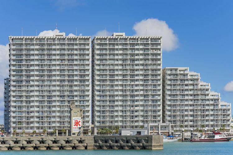 Arture mihama resort mansion and hamakawa fishing port where is written the ideogram ice in okinawa.