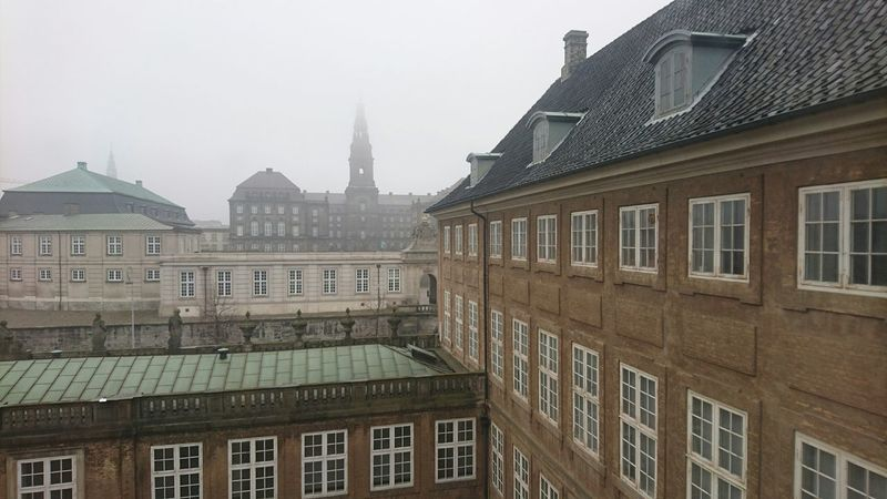Christiansborg slot Christiansborg Palace Nationalmuseum Copenhagen, Denmark A Foggy Day My Hometown Denmark Parliament Building