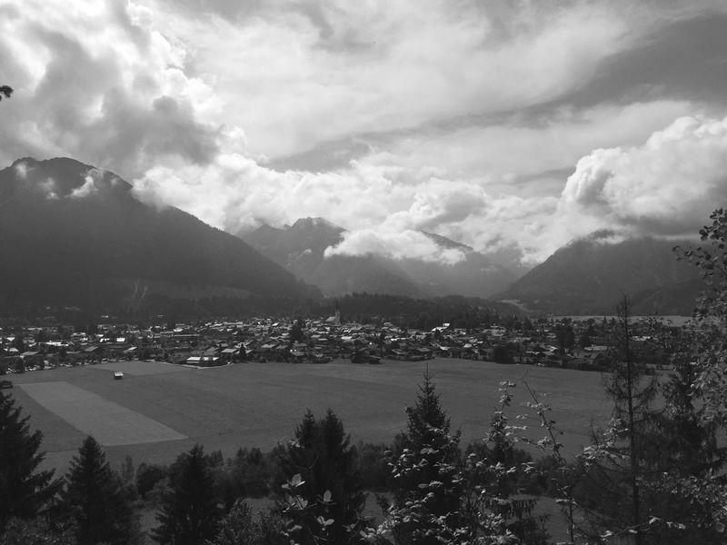 Mountain Tree Cloud - Sky High Angle View Oberstdorf & Umgebung Town Tourism