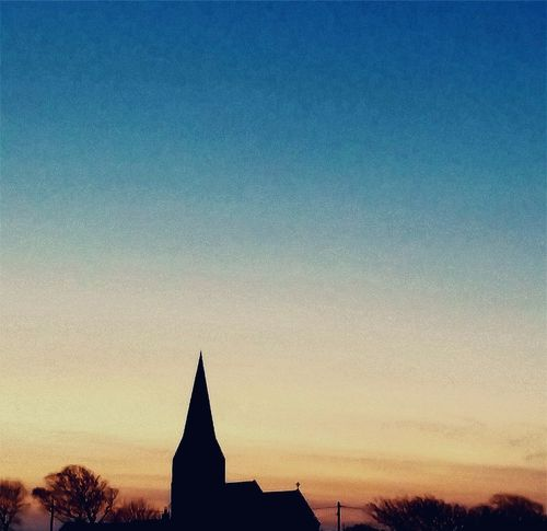 Silhouette sunset Religion Church Sunset Bright Sky Calm Sky Gradient Sky Gradient Colours Calm Tranquility Sunset Place Of Worship Religion History Statue Silhouette Clear Sky Spirituality Historic EyeEmNewHere