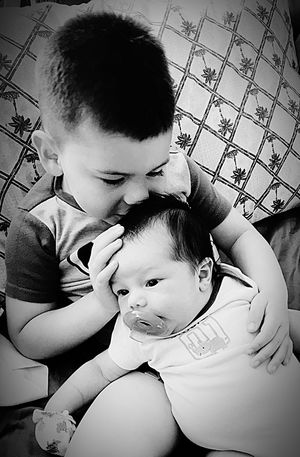 I thot a closeup wud make this photo much more endearing.... Childhood Togetherness Bonding Love 2Brothers Babyhood Close-up Happiness EyeEm Best Shots - Black + White B&W Portrait Black And White Showcase:June Best Eyeem Pics First Eyeem Photo EyeEm Best Shots Eyeem Market New Baby Love My Grandbabies Innocence Beginnings Family Baby Love