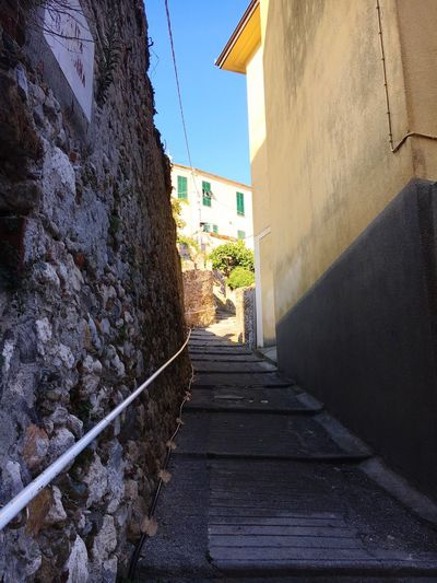 Views The Way Forward Built Structure Building Exterior Architecture Structure Finale Ligure Residential Building House Footpath Building Clear Sky Day City Outdoors Walkway Blue Long Italy Italia