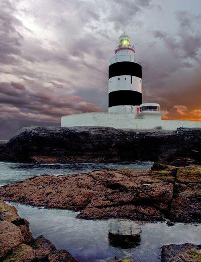 Hook Head Lighthouse Hook Lighthouse Wexford Hook Head, Ireland Sea Rocks