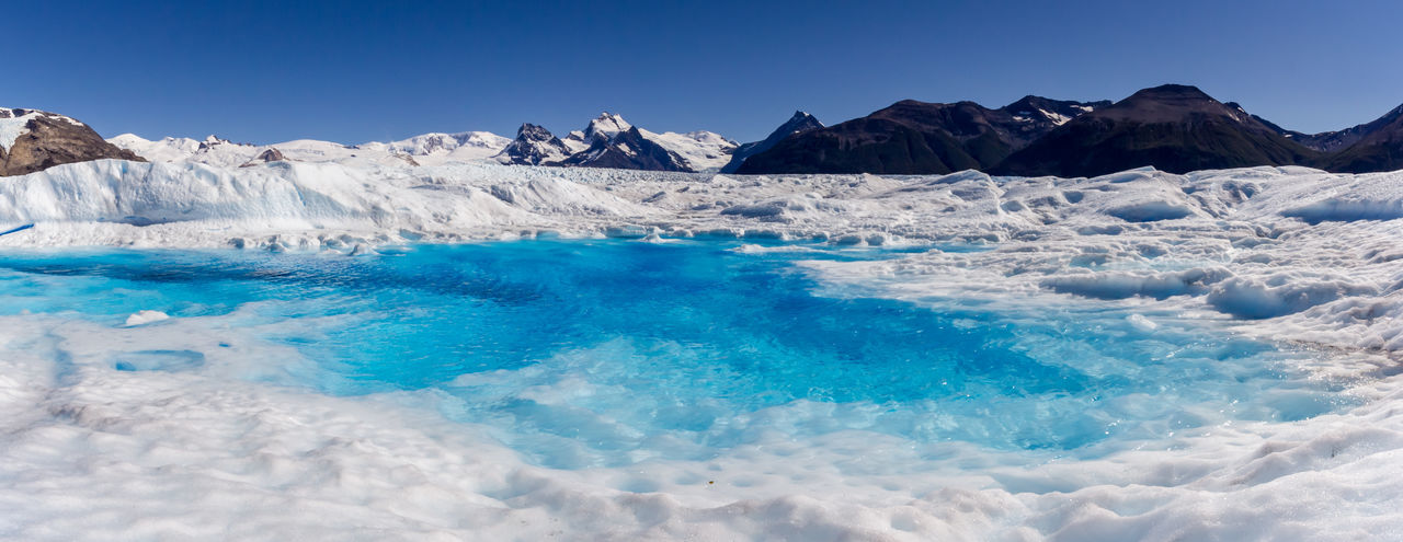Lake on the glacier Blue Scenics - Nature Beauty In Nature Sky Water Tranquil Scene Tranquility Nature Glacier Cold Temperature Landscape Idyllic Environment Non-urban Scene Day No People Waterfront Ice Outdoors Iceberg Power In Nature Turquoise Colored
