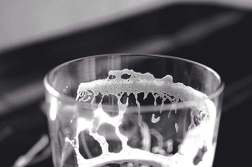 Depth Of Field Light And Shadow Glass Espuma  Beer Objects Monochrome Drinking