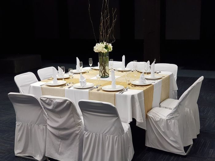 Dining Table Arranged In Restaurant