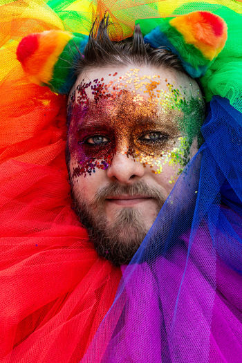 Proud Faces. Lgbt Lgbt Pride Portraiture Portraits Portrait_today Malephotographerofthemonth LONDON❤ London London Pride 2018 London Pride Pride The Portraitist - 2018 EyeEm Awards Portrait Multi Colored Looking At Camera Headshot Human Face Face Paint Front View Mid Adult Close-up Love Is Love