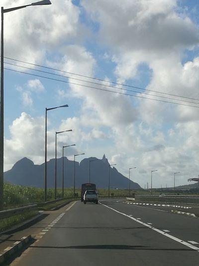 Highway Transportation Electricity Pylon Roadscenes Outdoors Landscape Mountain Far Away