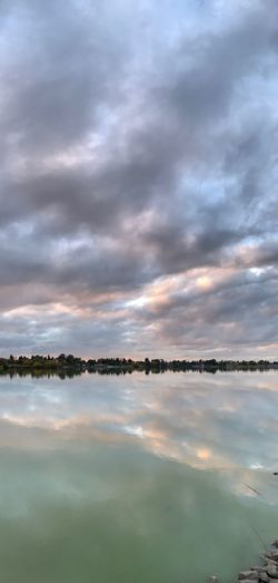 """""""Like water which can clearly mirror the sky and the trees only so long as its surface is undisturbed, the mind can only reflect the true image of the Self when it is tranquil and wholly relaxed."""" ― Indra Devi☁️☁️☁️ Lake Elizabeth Fremont Cloud - Sky Sky Water Beauty In Nature Reflection Tranquility Scenics - Nature"""