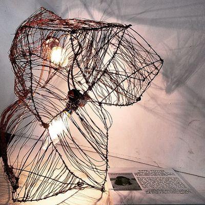 EIFFEL TOWER. Designed by Rachel Anne Rotoni. Aesteta Exhibit  Sdaar Finals Art Droplight Lightingdesign Lighting Lamp