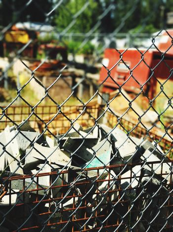 Chainlink Fence Focus On Foreground Metal Day Outdoors Close-up No People Bird Animal Themes Junkyard Junk Herrphotography Outdoors Whiteriver Friendtalk Girlday Mobile Photography Newbie Herr Photography HobbyPacific Northwest  Summer Washington State