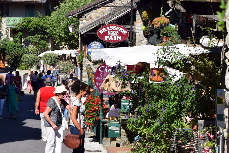 Day France Shop Shopping Store Street Street Scene Village Yvoire