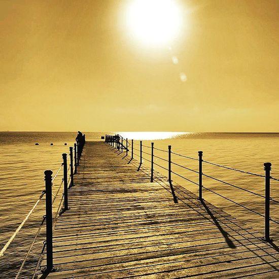 Golden sea Nikonfr Nikonfrance Sea Summer Photography Harbor Beach Sunsetporn Sunset Holiday Travel Egypt Igersegypt Igl_igf_pixter_kit2 @wearepixter @igersfrance @igerslyon