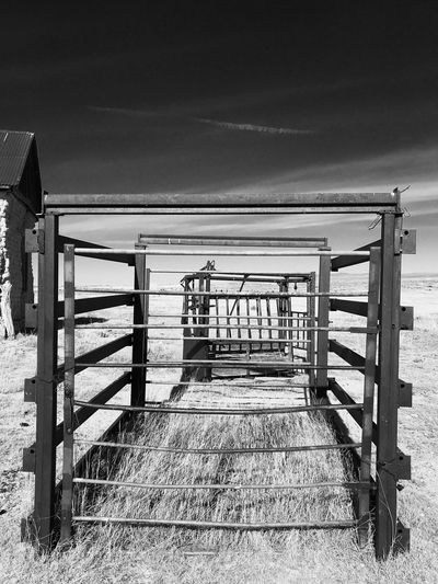 """""""Mystery Ranch No. 14"""" No More Cows. Cattle Chute New Mexico Photography New Mexico Abandoned Places Abandoned Cattle Black And White Photography Black And White Blackandwhite No People"""
