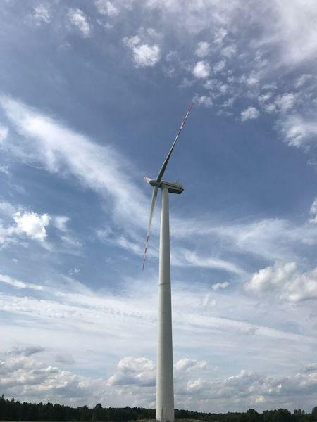 Wind Alternative Energy Wind Power Wind Turbine Renewable Energy Windmill Fuel And Power Generation Cloud - Sky Technology No People