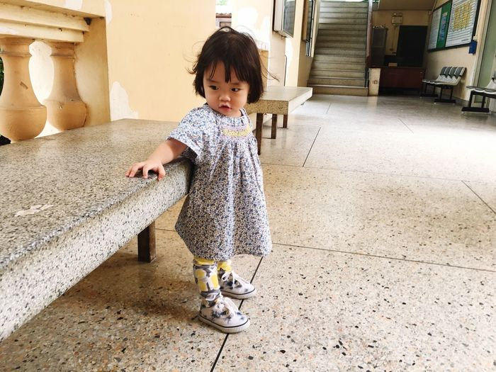 Child Childhood Full Length One Person Real People Cute Innocence Young Baby Front View Lifestyles Girls Women Toddler  Leisure Activity Casual Clothing Females Flooring