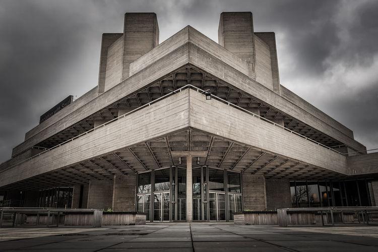 British Nationaltheatre Concrete Brutalism Architecturephotography City Modern Cityscape Sky Architecture Building Exterior Built Structure The Architect - 2018 EyeEm Awards