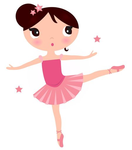 Hand drawn Kids ballerina / New design edition for Kids companies Artist Celebration Event Fashion On White One Person One Woman Only PINK, Dancing, Digital, Manga, PINK, Dancing, Digital, Manga, Stars Women