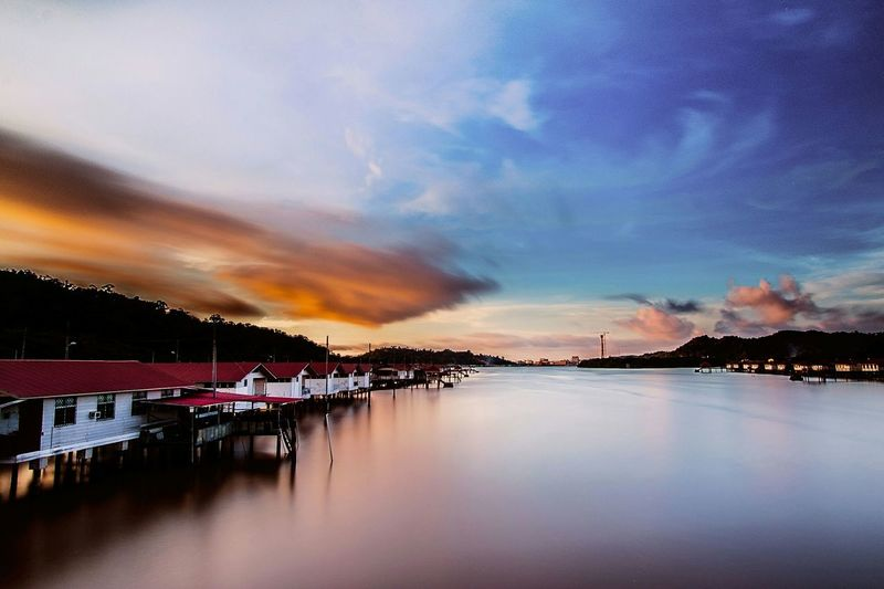 Brunei Sunset Water Reflections Long Exposure Reflections Water_village Water_collection EyeEm Best Shots Reflection Watervillage