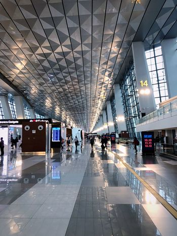 Soekarno - Hatta AirPort Airport Photography Airport Terminal Airportphotography Airport Runway Airport Transportation Architecture Built Structure Mode Of Transportation City Motor Vehicle Land Vehicle Sign Travel Public Transportation Direction The Way Forward City Life