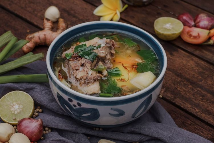 the famous indonesian meat soup or ribs soup The Foodie - 2019 EyeEm Awards Soup Foodporn Food Foodphotography food stories