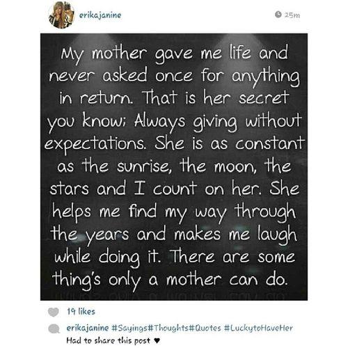 Repost @erikajanine ... Sotrue LoveMyMamaBear GladShesBetter