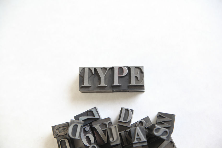 Metal type word with room for text Alphabet Capital Letter Close-up Communication Font Indoors  Large Group Of Objects Letterpress Metal Type Natural Light No People Numbers Overhead Studio Shot Text Text Space Textures Type Word Typeface  Typesetting Typography White Background