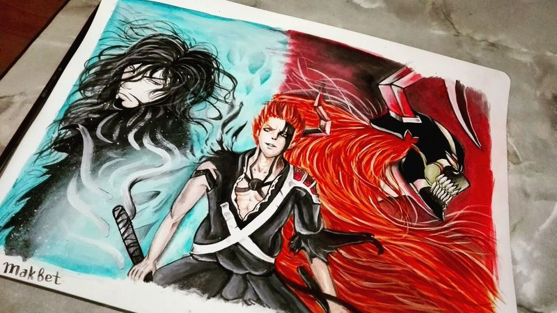 First Eyeem Photo Art Product Drawing - Activity Painted Image Artist Anime Drawing - Art Product Art And Craft Art, Drawing, Creativity Anime :3 ^.^'  Art Creativity Beauty Bleach Ichigo