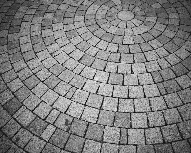 Full frame shot of cobblestones on walkway