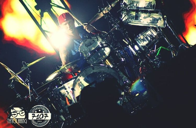 Chad Smith of Red Hot Chilli Peppers Chadsmith Redhotchilipeppers Bandsontour Live Music Musicfestival Musicforlife  Music Drummers Drumsforever Drumstagram