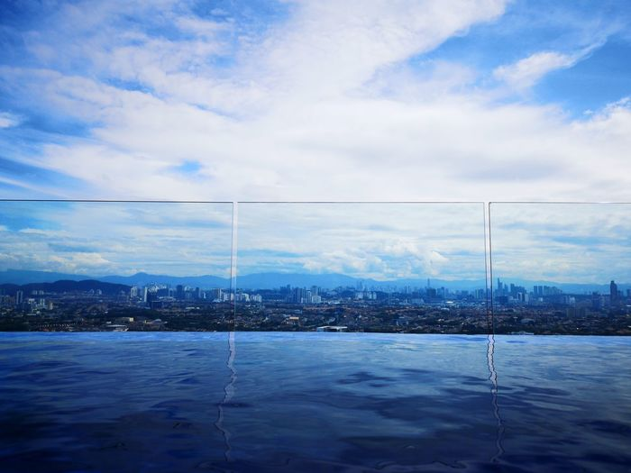 Biru Mata Hitam Ku Ensem Swimming Pool Water Blue Sea Sky Cloud - Sky Landscape Calm