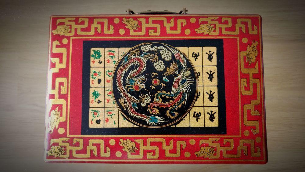 Majhong Play Wood Red No People Decoration Game Juego De Mesa Decoracion Details China