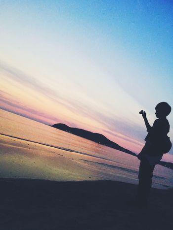 Sunset People Sea