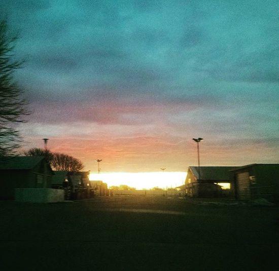 Wicked Sunrise in Nebraska // Nebraskasunrise // Hottt Colors