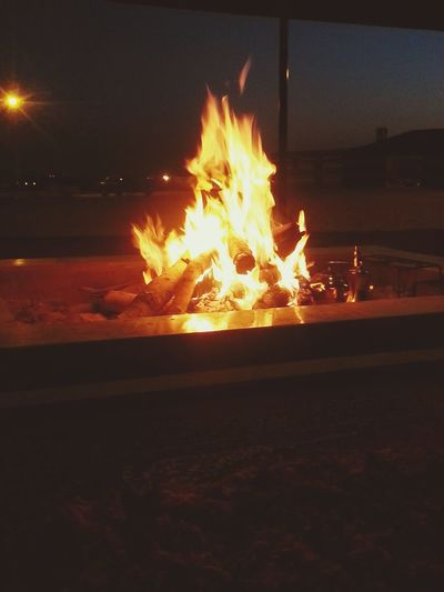 الثمامة Bluefire Camping Fireplace Time