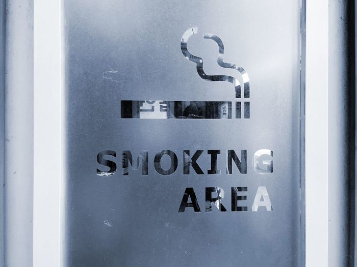 Text Communication Close-up No People Day Indoors  Smoking Sign Smoking Area