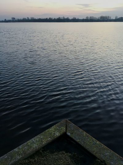 Sunset Water Tranquility Lake Tranquil Scene Nature Beauty In Nature Rippled Sky Scenics No People Outdoors