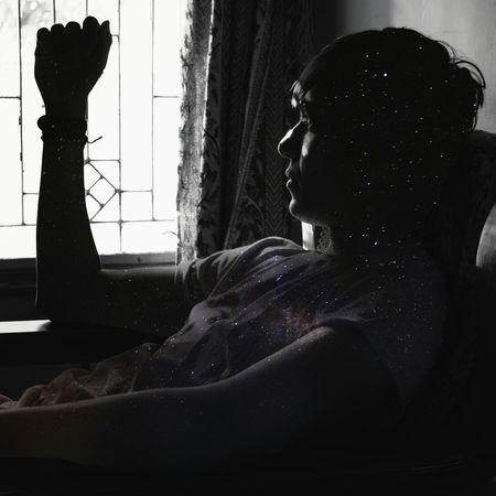 Blackandwhite Shadows & Lights Indoors  EyeEm Best Shots Portrait The Portraitist - 2017 EyeEm Awards Human Face Sunlight Doubleexposures Stars