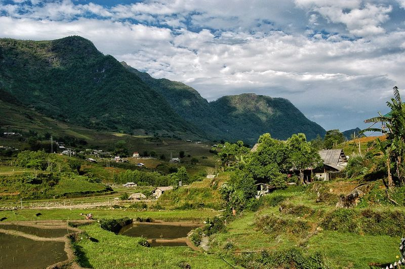 Vietnam SaPa Cloud - Sky Sky Plant Nature Tree Beauty In Nature Growth Green Color Environment Mountain No People Day Scenics - Nature Landscape Tranquility Tranquil Scene Agriculture Land Field Building Exterior