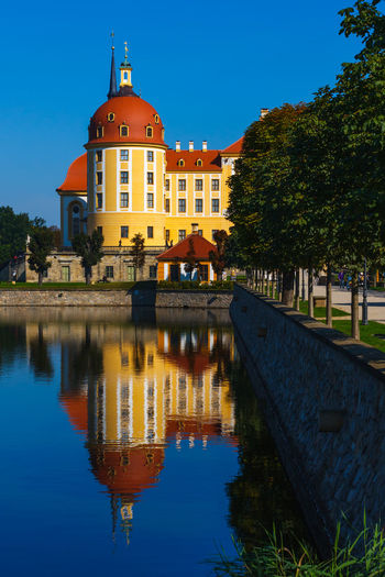 Castle Moritzburg  Architecture Clear Sky History Lake Reflection Sky Tree Water Waterfront