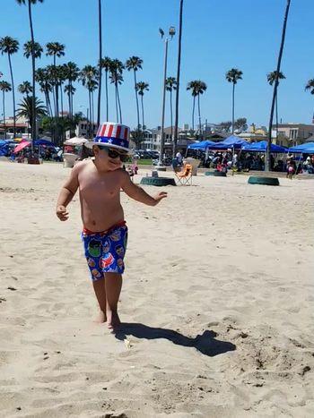 Beach Sand Full Length Shirtless Sunny Outdoors Summer One Person Joyful Moments Memories Balboa Beach  California Sunshine California Summer