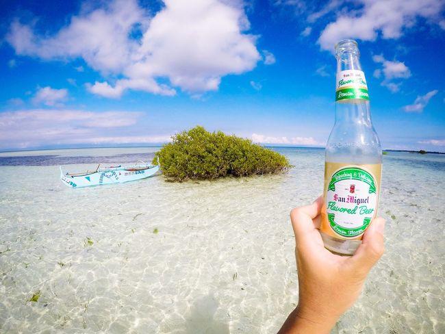 Beer Bottle Beer Sea Sea And Sky