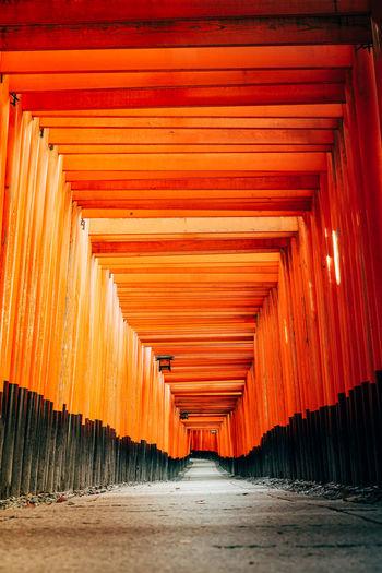 View of empty corridor of building
