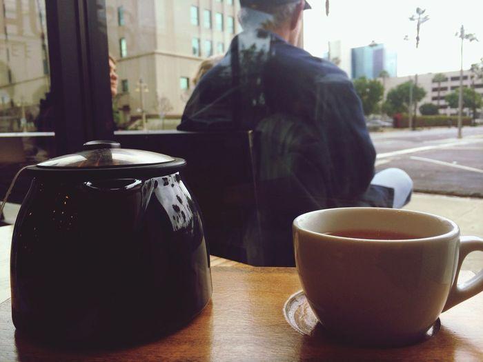 Rainy Sundays. Espresso Coffee Enjoying Life Tea