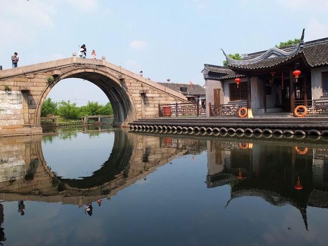 Boats Reflection Architecture Water Sky Arch Reflecting Pool Photography EyeEm Gallery Bridge - Man Made Structure The Week On EyeEm EyeEm Best Shots Watertown Travel Travel Photography Eyeemphotography River China Traveling EyeEm Travelphotography